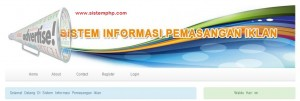 Sistem Informasi pemasangan Iklan