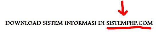 Download kumpulan sistem informasi php