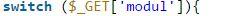 Kegunaan fungsi switch php