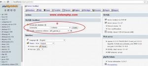 Membuat database phpmyadmin