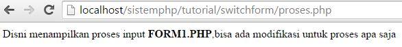 Menggunakan switch untuk form php