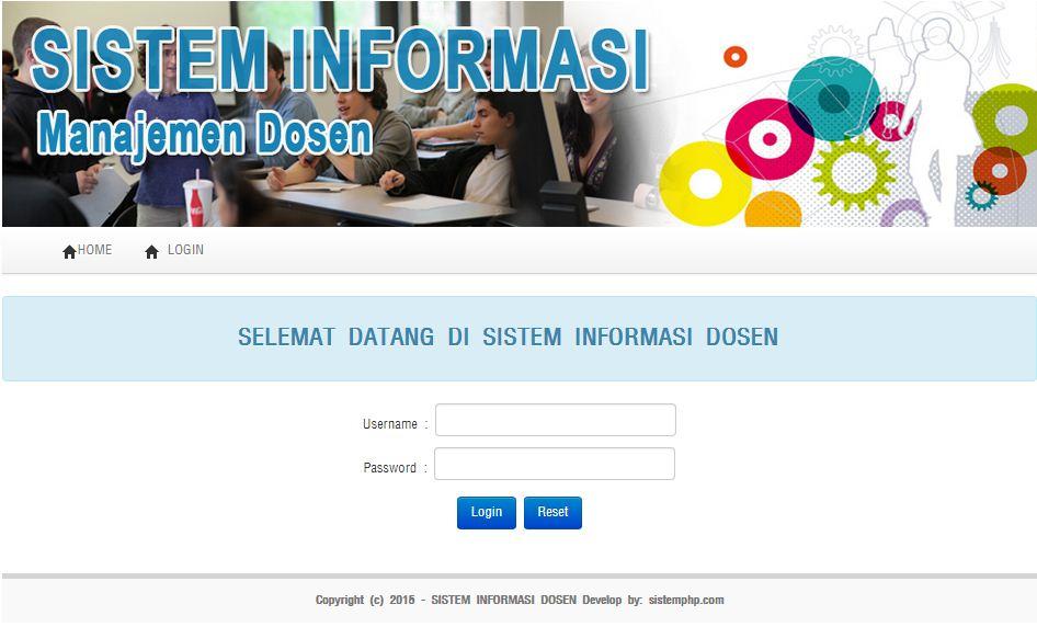 Login sistem informasi dosen