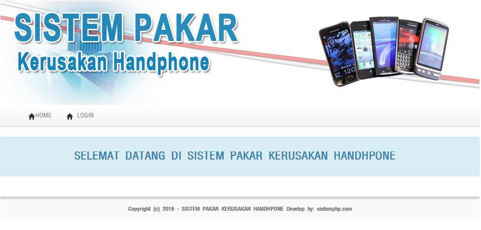 Sistem pakar kerusakan handphone
