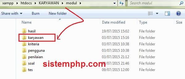 contoh-modul-aksi-php
