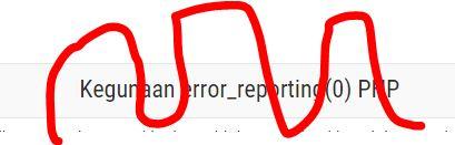 Kegunaan error_reporting(0) PHP