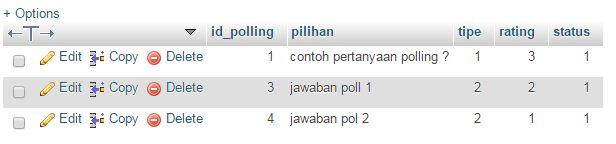 Cara Simpel Script PHP Polling atau Rating