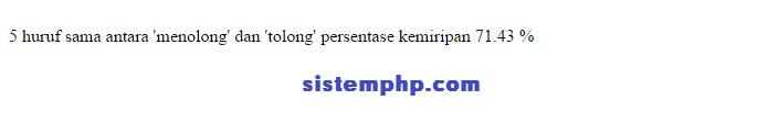 Mencari kemiripan kata php