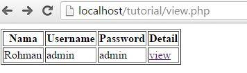Contoh Script Fungsi View di PHP