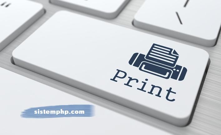 Script Print Halaman Web dengan PHP