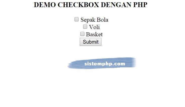 Checkbox dengan PHP