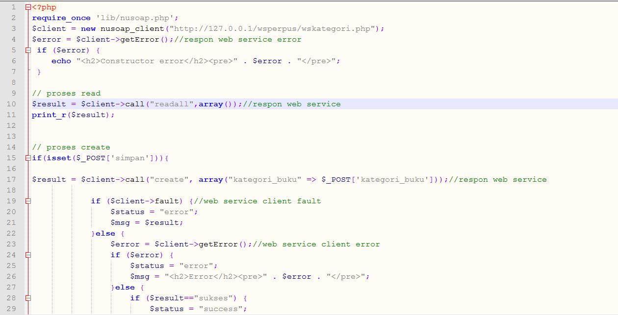 Contoh Web Service dengan PHP Native
