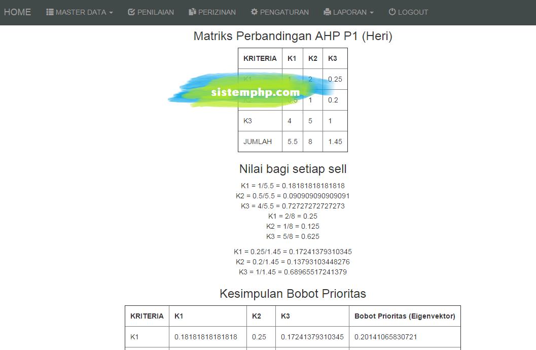 AHP - Membuat Algoritma Menjadi Otomatis