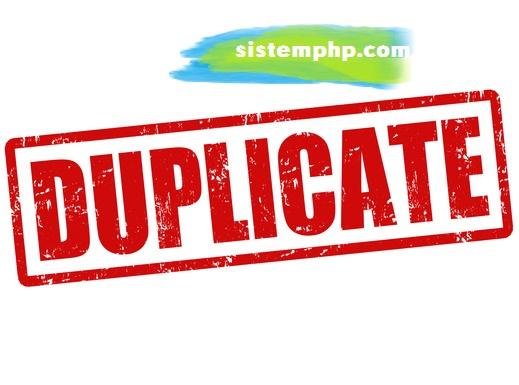 SQL - Cara Simpel Menghapus Duplicate Row dan Menyisakan 1