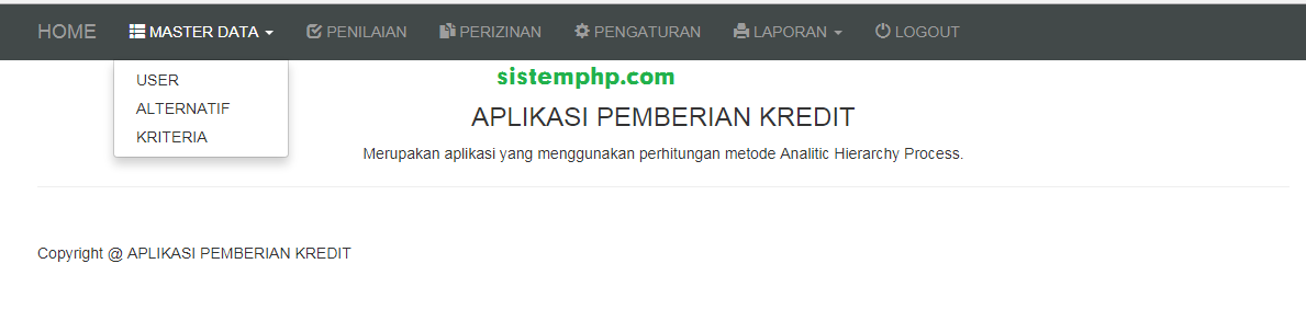 data master spk pemberian kredit