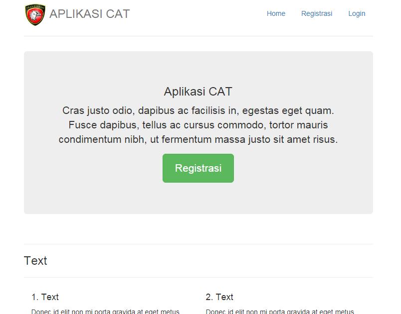 Halaman depan aplikasi cat