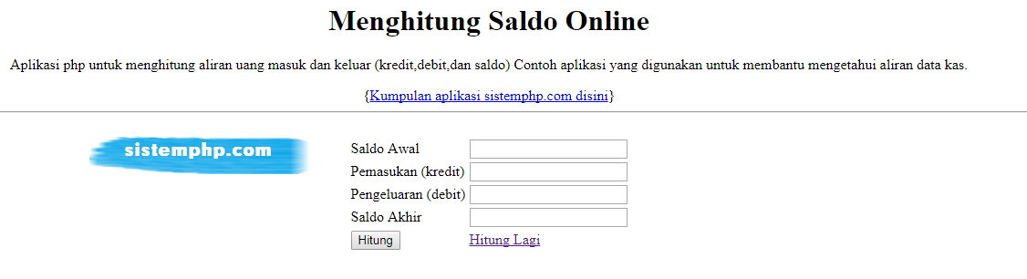 Cara Mudah Menghitung Saldo dengan PHP