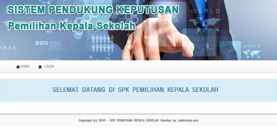Program SPK Pemilihan Kepala Sekolah