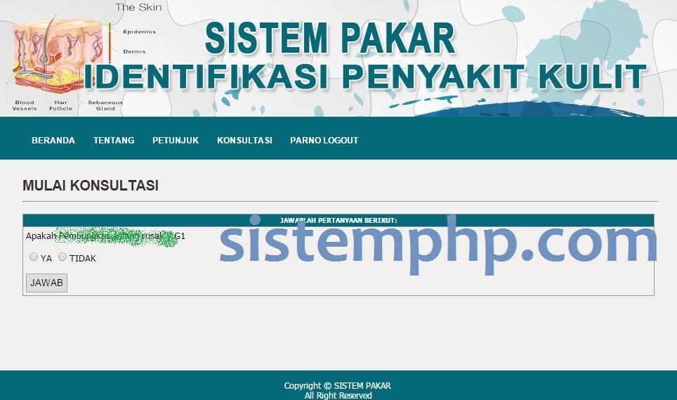 Sistem Pakar Penyakit Kulit PHP