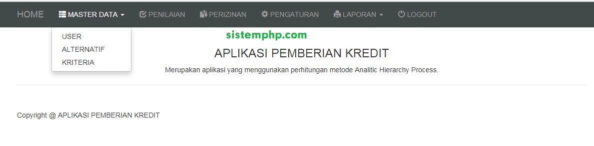 data master spk pemberian kredit