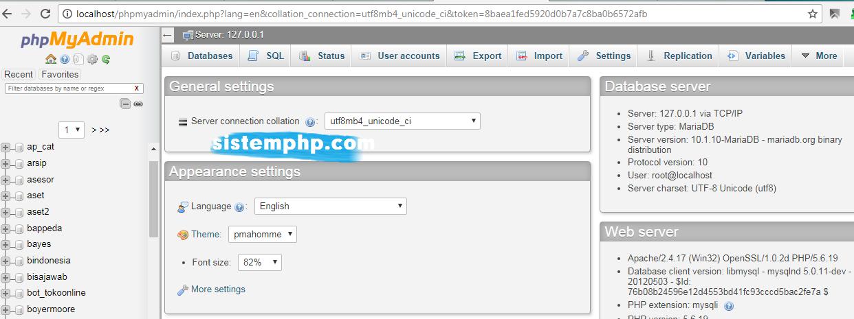 Export data dengan phpmyadmin