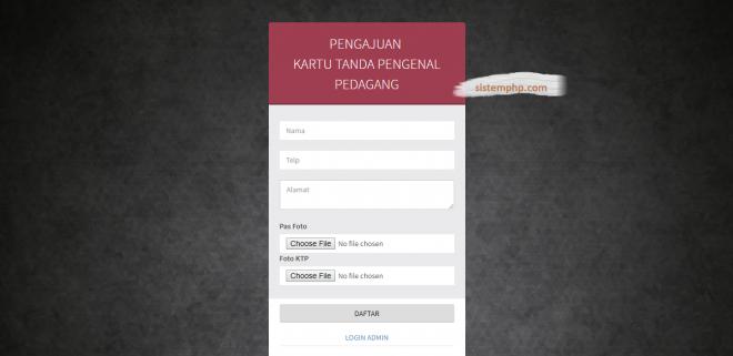 Form Pendaftaran kartu Anggota