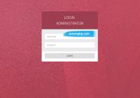 Login aplikasi ANP