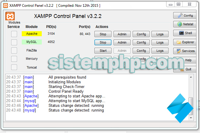 Mengaktifkan xampp server