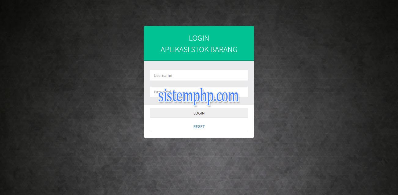 Login Aplikasi Prediksi Barang Metode CART