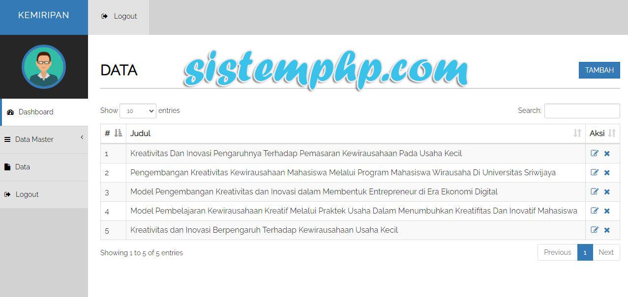 Data Aplikasi berbasis web php cek plagiarisme metode N-Gram