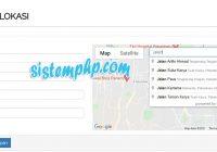 Mengisi Titik Koordinat Otomatis Dengan Google MAP